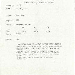 Image for K1133 - Condition and restoration record, circa 1950s-1960s