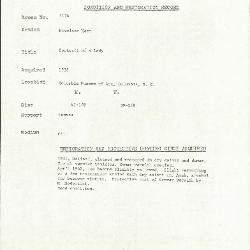 Image for K1134 - Condition and restoration record, circa 1950s-1960s