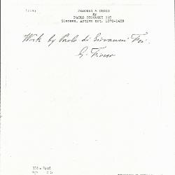 Image for K0114 - Expert opinion by Fiocco, circa 1930s-1940s