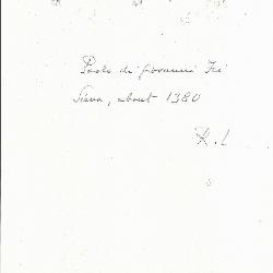 Image for K0114 - Expert opinion by Longhi, circa 1920s-1950s