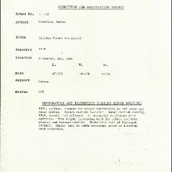Image for K1132 - Condition and restoration record, circa 1950s-1960s