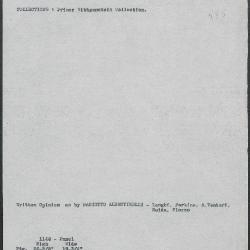 Image for K1146 - Art object record, circa 1930s-1950s