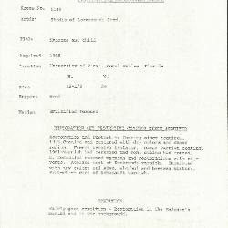 Image for K1149 - Condition and restoration record, circa 1950s-1960s