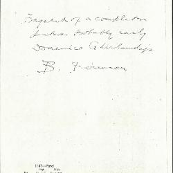 Image for K1147 - Expert opinion by Berenson, circa 1920s-1950s