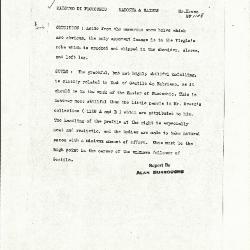 Image for K1148 - Alan Burroughs report, circa 1930s-1940s