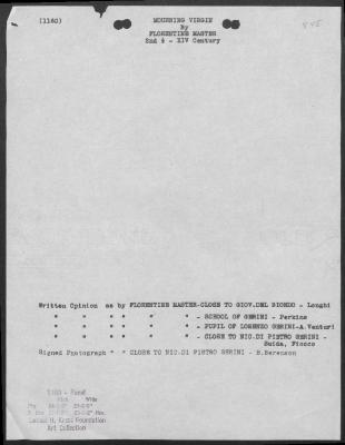 Image for K1160 - Art object record, circa 1930s-1950s