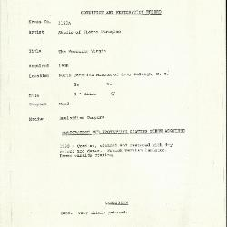 Image for K1153A - Condition and restoration record, circa 1950s-1960s