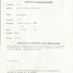 Image for K1155 - Condition and restoration record, circa 1950s-1960s