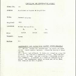 Image for K0116 - Condition and restoration record, circa 1950s-1960s
