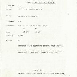 Image for K1157 - Condition and restoration record, circa 1950s-1960s