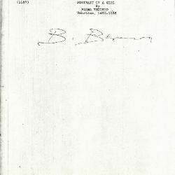 Image for K1157 - Expert opinion by Berenson, circa 1920s-1950s