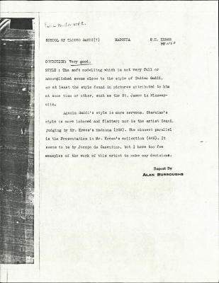 Image for K1160 - Alan Burroughs report, circa 1930s-1940s