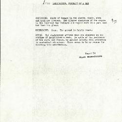 Image for K0116 - Alan Burroughs report, circa 1930s-1940s