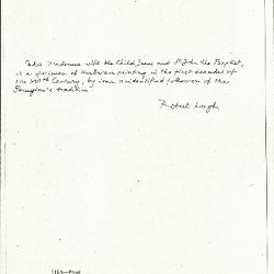 Image for K1154 - Expert opinion by Longhi, circa 1920s-1950s