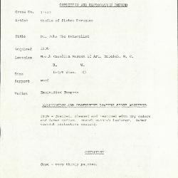 Image for K1153B - Condition and restoration record, circa 1950s-1960s