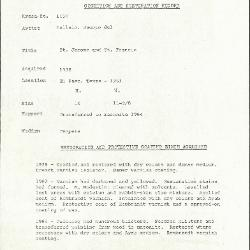 Image for K1158 - Condition and restoration record, circa 1950s-1960s