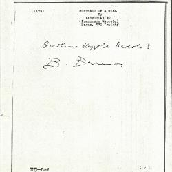 Image for K1175 - Expert opinion by Berenson, circa 1920s-1950s