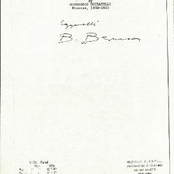 Image for K1173 - Expert opinion by Berenson, circa 1920s-1950s