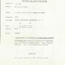 Image for K1163B - Condition and restoration record, circa 1950s-1960s