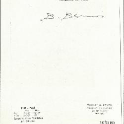 Image for K1168 - Expert opinion by Berenson, circa 1920s-1950s