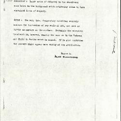 Image for K1164 - Alan Burroughs report, circa 1930s-1940s