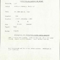 Image for K1177 - Condition and restoration record, circa 1950s-1960s