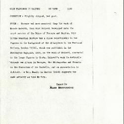 Image for K1182 - Alan Burroughs report, circa 1930s-1940s