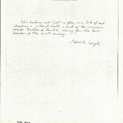 Image for K1179 - Expert opinion by Longhi, circa 1920s-1950s