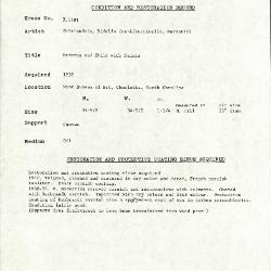 Image for K1181 - Condition and restoration record, circa 1950s-1960s
