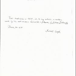 Image for K1183 - Expert opinion by Longhi, 1939