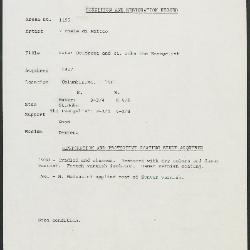 Image for K1195 - Condition and restoration record, circa 1950s-1960s