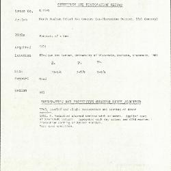 Image for K1193 - Condition and restoration record, circa 1950s-1960s