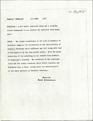Image for K1187 - Alan Burroughs report, circa 1930s-1940s