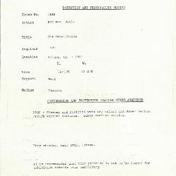 Image for K1188 - Condition and restoration record, circa 1950s-1960s