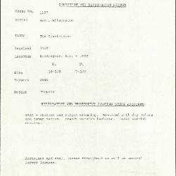 Image for K1197 - Condition and restoration record, circa 1950s-1960s
