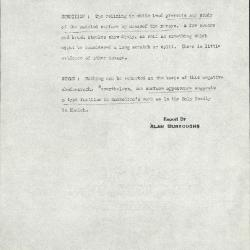 Image for K1205 - Alan Burroughs report, circa 1930s-1940s