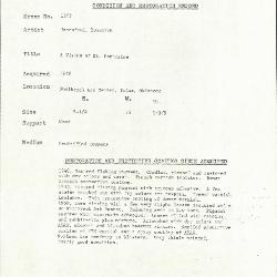 Image for K1203 - Condition and restoration record, circa 1950s-1960s