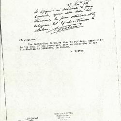 Image for K0120 - Expert opinion by A. Venturi, circa 1920s-1930s