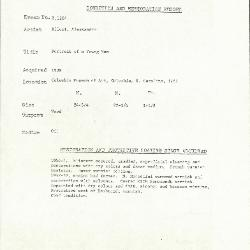 Image for K1204 - Condition and restoration record, circa 1950s-1960s
