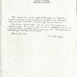 Image for K1199 - Expert opinion by Longhi, 1939