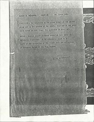 Image for K1201 - Alan Burroughs report, circa 1930s-1940s