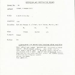 Image for K1198 - Condition and restoration record, circa 1950s-1960s