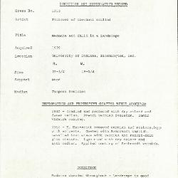 Image for K1212 - Condition and restoration record, circa 1950s-1960s
