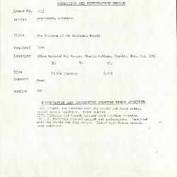 Image for K1213 - Condition and restoration record, circa 1950s-1960s