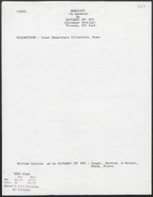 Image for K1208 - Art object record, circa 1930s-1950s