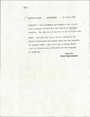 Image for K1209 - Alan Burroughs report, circa 1930s-1940s
