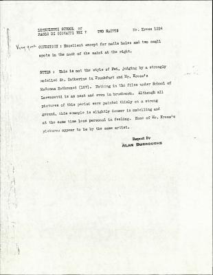Image for K1224A - Alan Burroughs report, circa 1930s-1940s