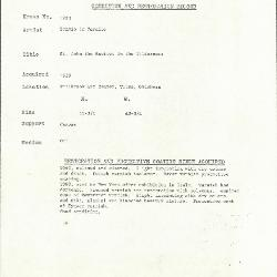 Image for K1223 - Condition and restoration record, circa 1950s-1960s