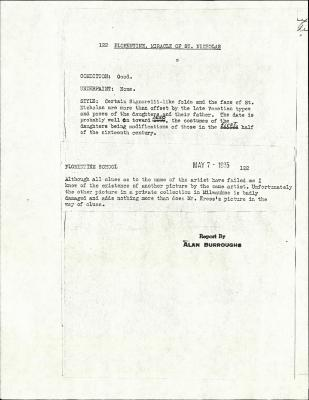 Image for K0122 - Alan Burroughs report, circa 1930s-1940s