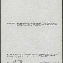 Image for K0122 - Art object record, circa 1930s-1950s